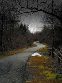 Country Road To The Moon....Oh Fly Me to the Moon, Down the Road to my Home. My Mind has Flown There Many Times Before.