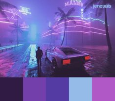 Cyberpunk Neon Color Palette