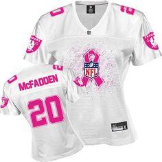 Jersey 20 Womens Raiders Mcfadden Nfl Game Awareness Pink Breast Oakland Darren Cancer