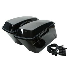 Tengchang Hard Saddle bags Saddlebags Trunk For 1994-2012 Harley HD Road King DYNA Sportster