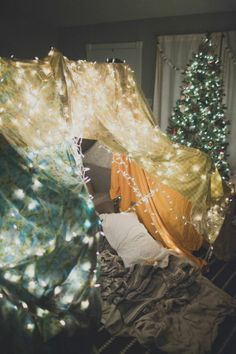 For a cozy date night in: Build a fort together. This is cute. This is what I love when people go above and beyond and do little surprises for the ones they love