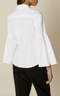 Karen Millen, THE BELL SLEEVE SHIRT White