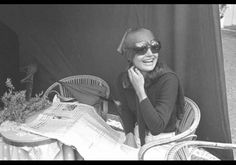 """According to the book Un Mito Nel Mito, Jackie started wearing sunglasses because of Gore Vidal who told her that """"they are not only useful for hiding under but also for studying people without their realizing it."""" Going On Summer Holiday With Jackie Kennedy - pg.6"""