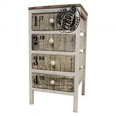 Phil Bee Industrial Inspired 4 Drawer Cabinet $350