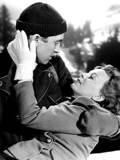 "Jimmy Stewart and Margaret Sullavan in ""The Mortal Storm"" (1940)"