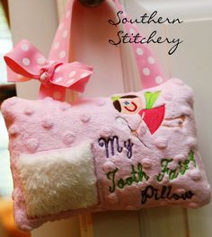 Tooth Fairy Pillow for Girls Personalized Great Gift Girl Choose Skin Color, Dress, Eye, Hair Color Customized to your child Tooth Pillow, Tooth Fairy Pillow, Grandchildren, Grandkids, Dental Teeth, Baggage, Beautiful Babies, Baby Quilts, Fairies