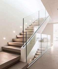Modern Staircase Design Ideas - Stairs are so usual that you don't provide a second thought. Check out best 10 instances of modern staircase that are as sensational as they are . stairs Top 10 Unique Modern Staircase Design Ideas for Your Dream House Home Stairs Design, Interior Stairs, Room Interior Design, Staircase Glass Design, Staircase Design Modern, Stair Design, Stairway Lighting, House Lighting, Escalier Design