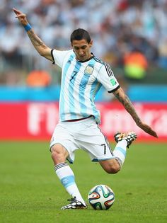 Angel di Maria of Argentina in the 2014 World Cup