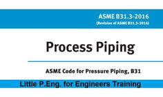 ASME B31.3 Considerations for Branch Connections Under External Pressure | #Little_PEng