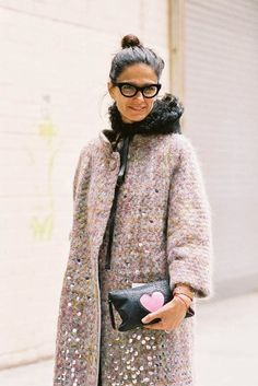 This coat--the colors in the tweed and the little sequins! 2014: The Year of Grown-up Glamour | That's Not My Age
