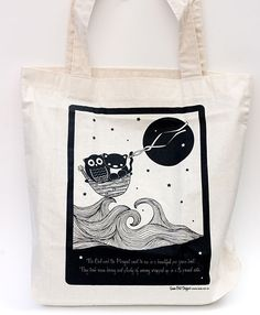 Bob Boutique: Owl and pussycat tote by MyOwlBarn, via Flickr
