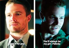 """In the beginning I was going to do all this by myself, and now with you and Diggle…I rely on you."" #OliverQueen"
