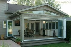 🌟Tante S!fr@ loves this📌🌟Gallery - Monarch Moveable Glass Walls Hot Tub Room, Glass Porch, Porch Enclosures, Sliding Screen Doors, Sunroom Addition, Enclosed Patio, Outdoor Living Rooms, Backyard Patio Designs, Designer