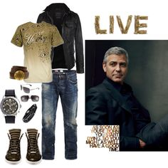 Live, created by bruhadeangel on Polyvore