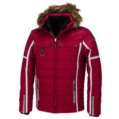Icepeak, Oras, Gewatteerde ski-jas, Heren, donkerrood (Ski kleding heren)