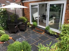 Garden Design and Build all-in-one solution based in Salisbury, Wiltshire Limestone Paving, Outdoor Living, Outdoor Decor, Bespoke Design, Garden Design, Brick, Windows, Patio, Landscape