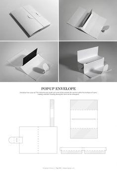 Pop-Up Envelope – structural packaging design dielines