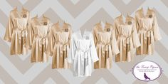 Get ready in style with these personalized satin robes. Your bridesmaids are certain to love them! You are purchasing a set of 7 (or more)