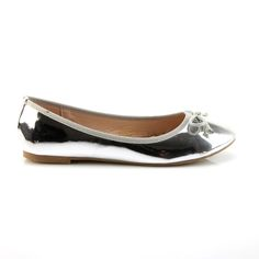 sliver shiny flats | #shoes #flats #owned