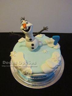 Doces Opções: Bolo de aniversário do Afonso com o Olaf