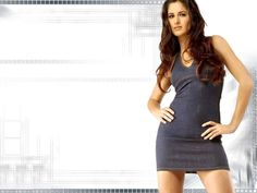 Katrina in grey dress