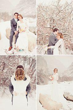 Winter Bridal Session by Stephanie Sunderland