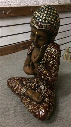 Gautama Buddha, Buddha Buddhism, Buddha Art, Tibetan Buddhism, Meditation Altar, Meditation Rooms, Buda Zen, Baby Buddha, Fairy Statues
