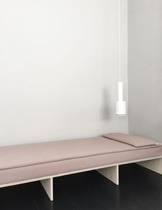 daybed with rosé kvadrat textiles by sandra thomsen