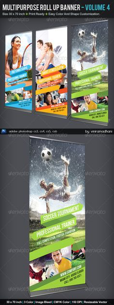 Multipurpose Roll Up Banner | Volume 4 #GraphicRiver Multipurpose Roll Up Banner | Volume 4 Specs : adobe photoshop cs3, cs4, cs5, cs6 Resolution 150 dpi Size 30×70 inch, with 1 inch image bleed Color CMYK Photo not included