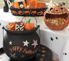 Halloween Glitter Treat Buckets & Liner $19-$39   Pottery Barn Kids Halloween 2016