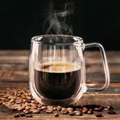 The transparent design is heat-resistant that will not only make your coffee look beautiful but taste good at the same time.