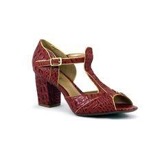 Vamos de croco vermelho? #koquini #sapatilhas #euquero #peeptoe Veja mais: http://koqu.in/1kD9Jrr