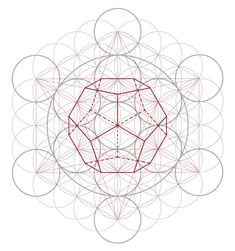 Imgs For > Dodecahedron Sacred Geometry Platonic Solid, Crystal Grid, Flower Of Life, Op Art, Sacred Geometry, Art Techniques, Mandala, Doodles, Symbols