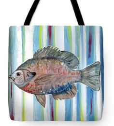 Artwork on a tote.