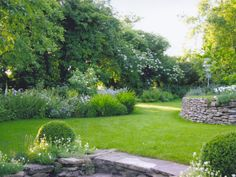 Cotswold hillside garden, Dyrham, , Gloucestershire.    Landscape Design by Amanda Patton.