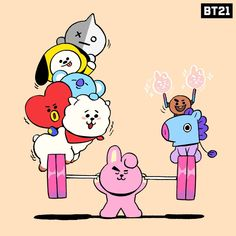 is a new character IP created by LINE FRIENDS, loved by the millennial generation worldwide. Billboard Music Awards, Unicornios Wallpaper, Cute Kawaii Animals, Bts Twt, K Pop Star, Line Friends, Bts Chibi, Kpop Fanart, Dad Birthday