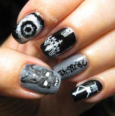 LOTMN Donnie Darko inspired #nailart