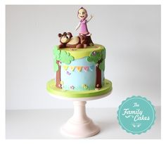 The Family Cakes: Masha e o Urso * Bolo * Cake 3rd Birthday Cakes, Bear Birthday, 3rd Birthday Parties, Birthday Diy, Masha Cake, Family Cake, Bolo Cake, Masha And The Bear, Bear Cakes