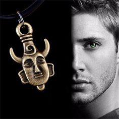 Amulet pendant Supernatural Jensen Ackles Dean Winchester Protection necklace C15 C16 celebs