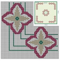 Henna Body Art, Hgtv, Cross Stitch Embroidery, Projects To Try, Kids Rugs, Ornaments, Abstract, Mini Cross Stitch, Towels