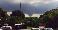 A tornado on the south side of MacDill AFB afternoon of 10/8/13, just east of the marina. Photo by Randi West