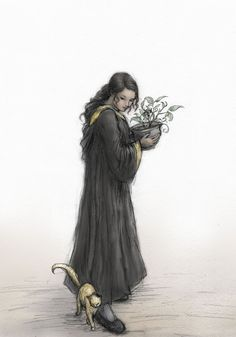 Hufflepuff by ejbeachy   If I weren't a Slytherin I'd want to be a Hufflepuff, and this picture is why.