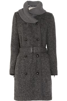 Burberry Brit Knitted wool-blend cardi-coat NET-A-PORTER.COM