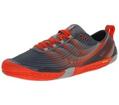 Merrell Men's Vapor Glove 2 Trail Running Shoe, Grey/Spicy Orange, ...