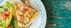 Celebrate National Vegetarian Week with this meat-free Spanish-style omelette Asda Recipes, Cooking Recipes, Dinners, Meals, Omelette, Spanish Style, Tray Bakes, Vegetable Pizza, Vegetarian