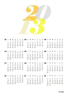 Free Printable 2013 Calendar  #free #printable #2013 #calendar