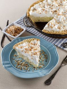 Coconut Cream Pie – Flaky All-Butter Crust Filled with Coconut Cream and Topped with Lightly Sweetened Whipped Cream and Toasted Coconut. Nostalgic, Family-Inspired Recipe from Kelly Jaggers. A perfect dessert for Shavuot and spring! All Butter Pie Crust, Stick Of Butter, Oreo Dessert, Tart Recipes, Dessert Recipes, Sukkot Recipes, Cheesecake Recipes, Holiday Recipes, Coconut Cream