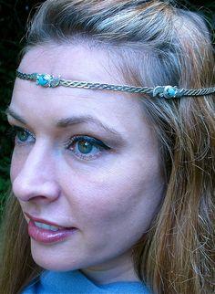 Turquoise Silver  Circlet by SpiritoftheGoddess on Etsy, $82.00