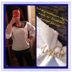 DIY: off the shoulder sweatshirt gone wrong- pinch it and pin it!