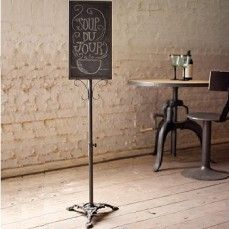 hmmm...wonder if I could attach a chalkboard to my very similar music stand base